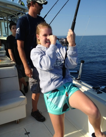 Making memories fishing on Lake Michigan