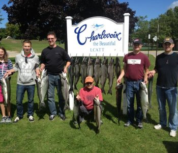 Group Charter Fishing, Charlevoix MI